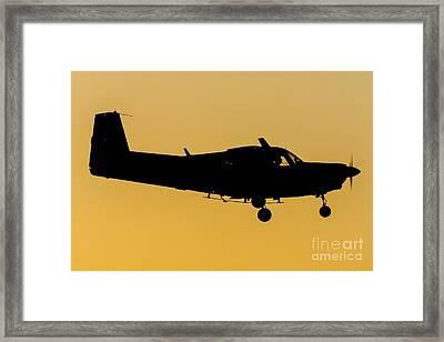 Siai Marchetti S208m Aeronautica Militare Italiana Sunset Framed Print by Roberto Chiartano