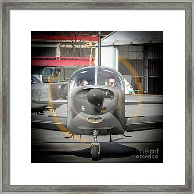 Siai Marchetti S208m Frontal Framed Print by Roberto Chiartano