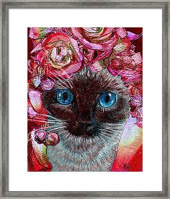Siamese Kitty Valentine Framed Print by Michele Avanti