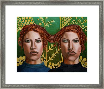 Siamese Twins 5 Framed Print by Leah Saulnier The Painting Maniac