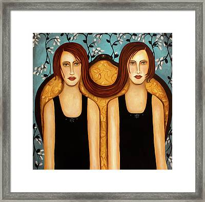 Siamese Twins Framed Print by Leah Saulnier The Painting Maniac