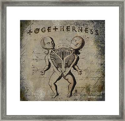 Siamese Twins Framed Print by Mindy Sommers