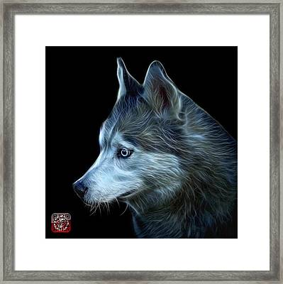 Framed Print featuring the painting Siberian Husky Art - 6048 - Bb by James Ahn