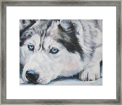 Siberian Husky Up Close Framed Print