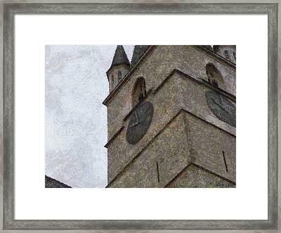 Sibiu Clock Tower Framed Print by Jeff Kolker