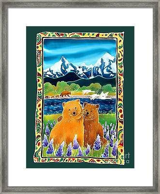 Sibling Bears Of Katmai Framed Print by Harriet Peck Taylor