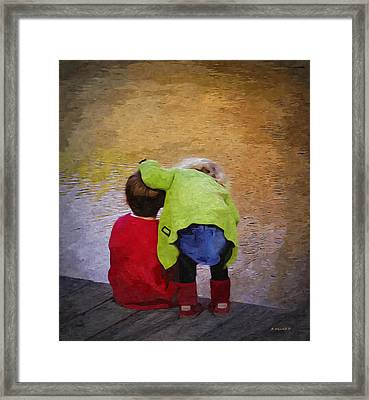 Sibling Love Framed Print