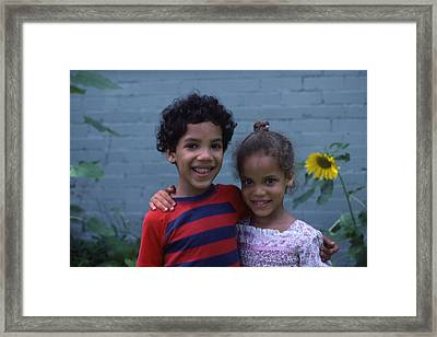Siblings And Friends Framed Print by Randy Muir