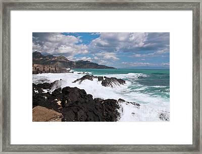 Sicilian Stormy Sound Framed Print