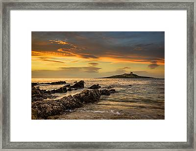 Sicilian Sunset Isola Delle Femmine Framed Print by Ian Good