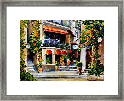 Sicily - Spring Morning Framed Print by Leonid Afremov