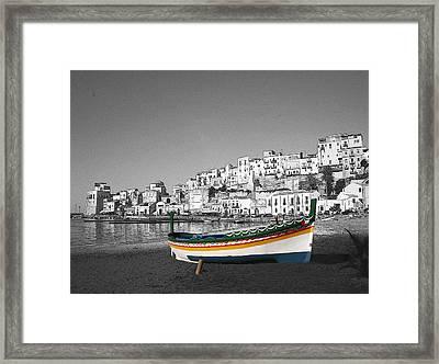 Sicily Fishing Boat  Framed Print by Jim Kuhlmann