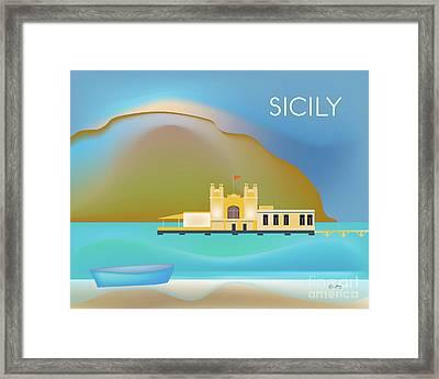 Sicily Italy Horizontal Scene Framed Print