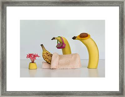 Sick Banana Framed Print by Jacqueline Hammer