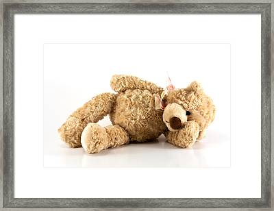 Sick Teddy Bear Framed Print by Blink Images