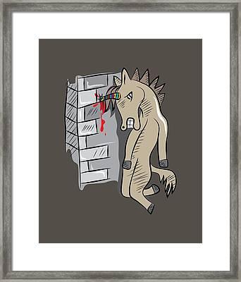 Sick Unicorn Framed Print by Martinus Sumbaji