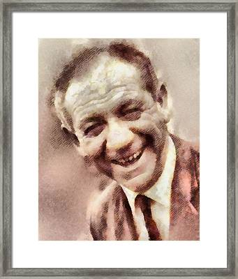 Sid James, Carry On Actor Framed Print by John Springfield