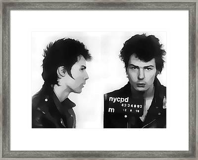 Sid Vicious Mugshot Framed Print
