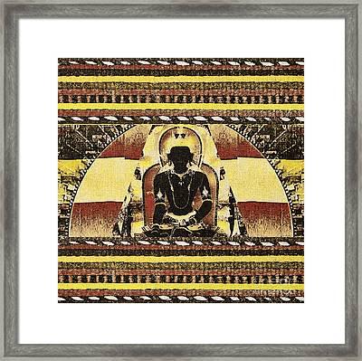 Framed Print featuring the mixed media Siddhartha Gautam by Lita Kelley