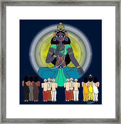 Siddhidaatri Framed Print by Pratyasha Nithin