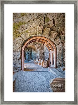 Side Amphitheatre Archway Framed Print by Antony McAulay