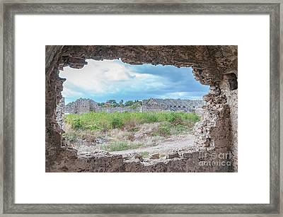Side Amphitheatre From Ancient Hospital Framed Print by Antony McAulay