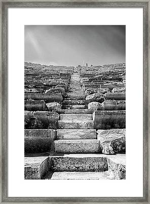 Side Amphitheatre Stairway Framed Print by Antony McAulay
