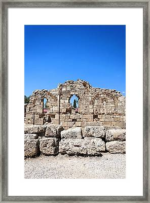 Side Ancient Temple Ruins Framed Print