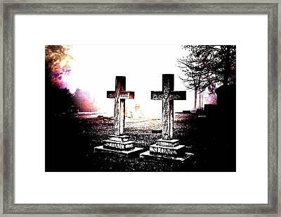 Side By Side Framed Print by Diane Payne