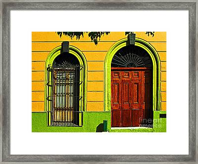 Side Door By Darian Day Framed Print by Mexicolors Art Photography