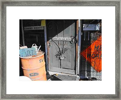 Side Door Hippies Framed Print by Chuck Taylor