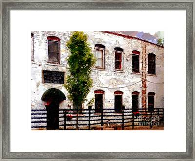 Side Door Restaurant On Main - Honesdale Pa Framed Print