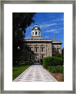 Side Door To Justice Framed Print by Laura Ragland