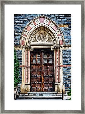 Side Entrance Framed Print by Christopher Holmes
