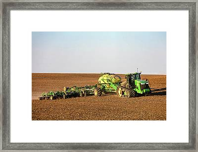 Side Hill Seeding Framed Print by Todd Klassy