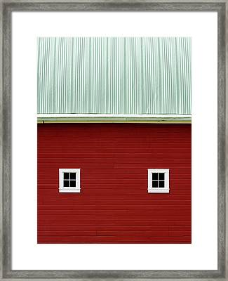 Side Of A Big Red Barn In The Palouse Framed Print