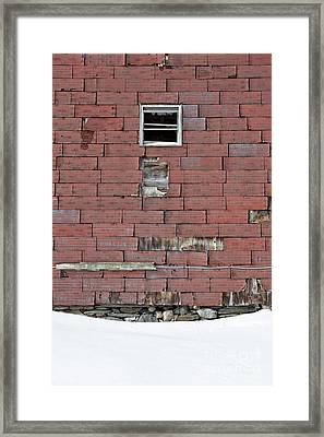 Side Of An Abandoned Old Barn Framed Print