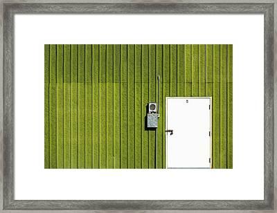 Side Of Green Framed Print
