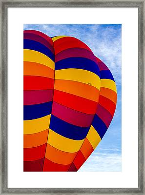 Side Of Hot Air Balloon Framed Print by Teri Virbickis