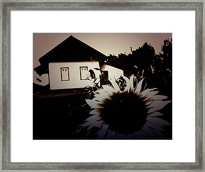 Side Of The Sun Framed Print by Empty Wall