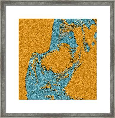 Side Posed Framed Print by Piety Dsilva