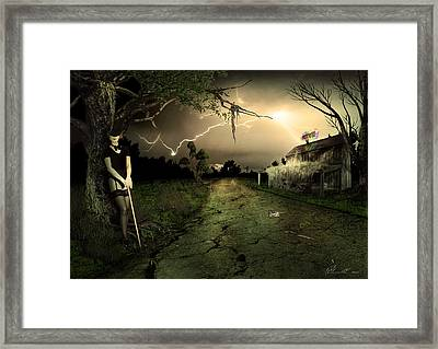 Side Road Motel Framed Print by Svetlana Sewell