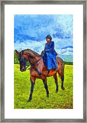 Side Saddle Framed Print by Scott Carruthers