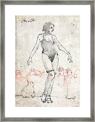 Side Show Framed Print by H James Hoff