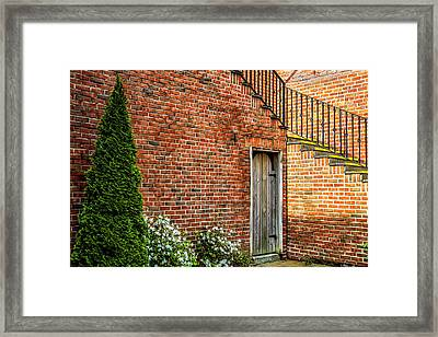 Framed Print featuring the photograph Side Streed Scene by Jim Dollar