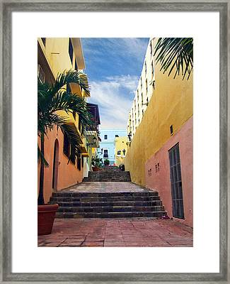 Side Street Framed Print