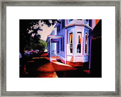 Framed Print featuring the painting Side Street - Lambertville by Robert Henne