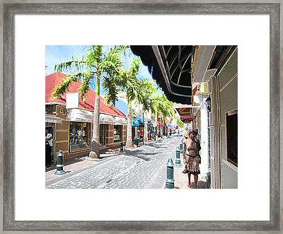 Framed Print featuring the photograph Side Street by Michael Albright