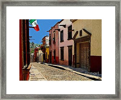 Side Street Framed Print by Mexicolors Art Photography
