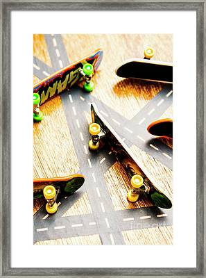 Side Streets Of Skate Framed Print